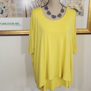 CABLE & GAUGE YELLOW LAYERED TOP💥